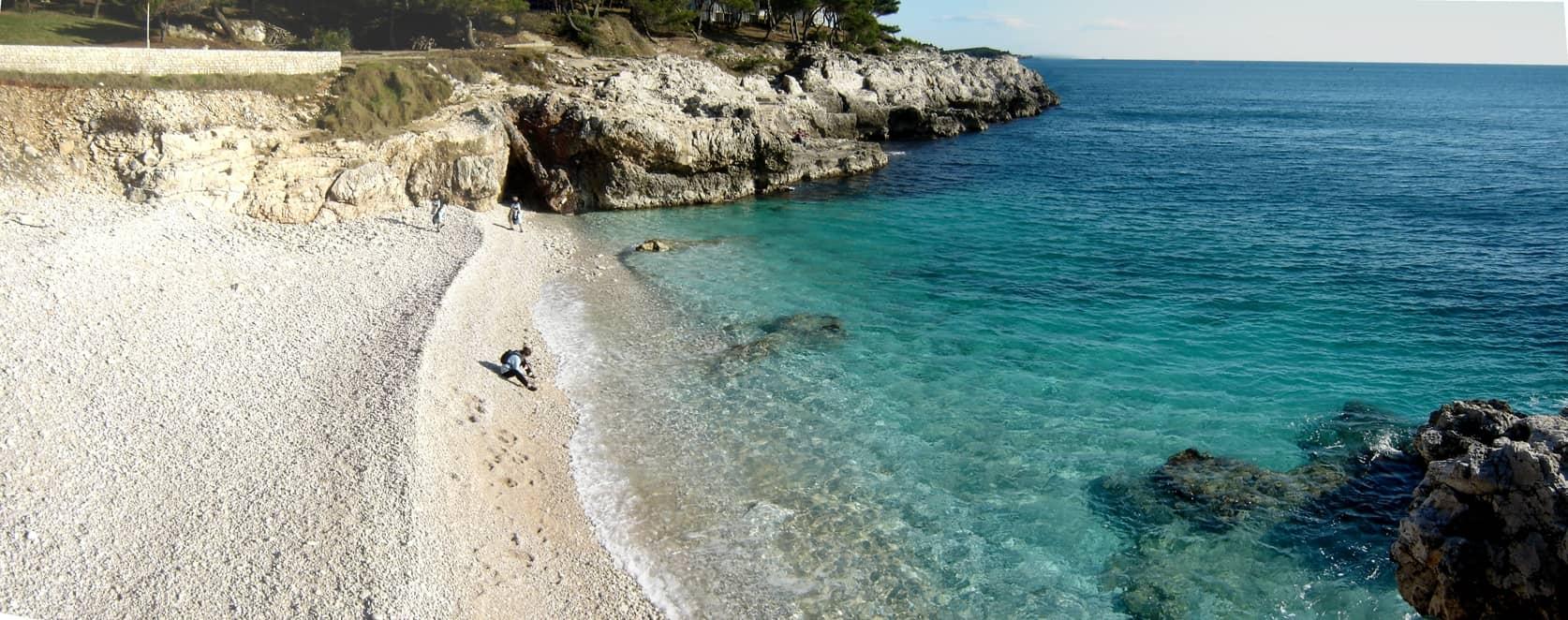 חוף הים בפולה, קרואטיה