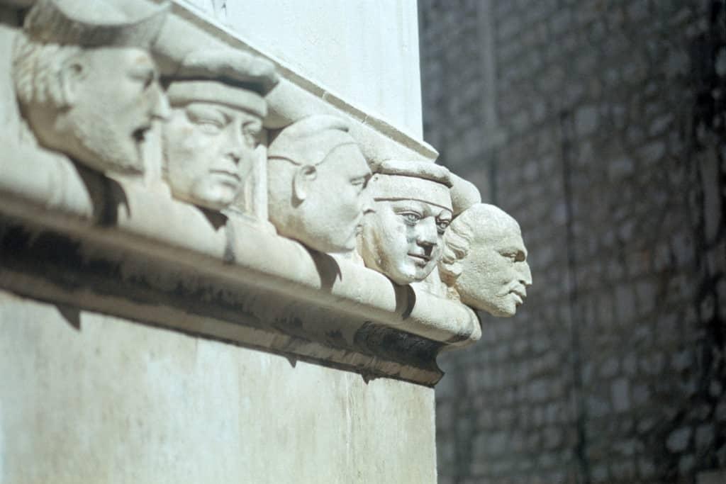 קישוט בקתדרלת סיינט ג'ייקובס בסיבניק