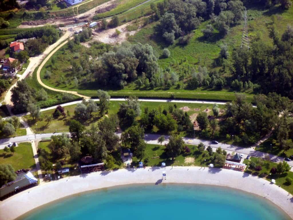 אגם Jarun ליד זגרב