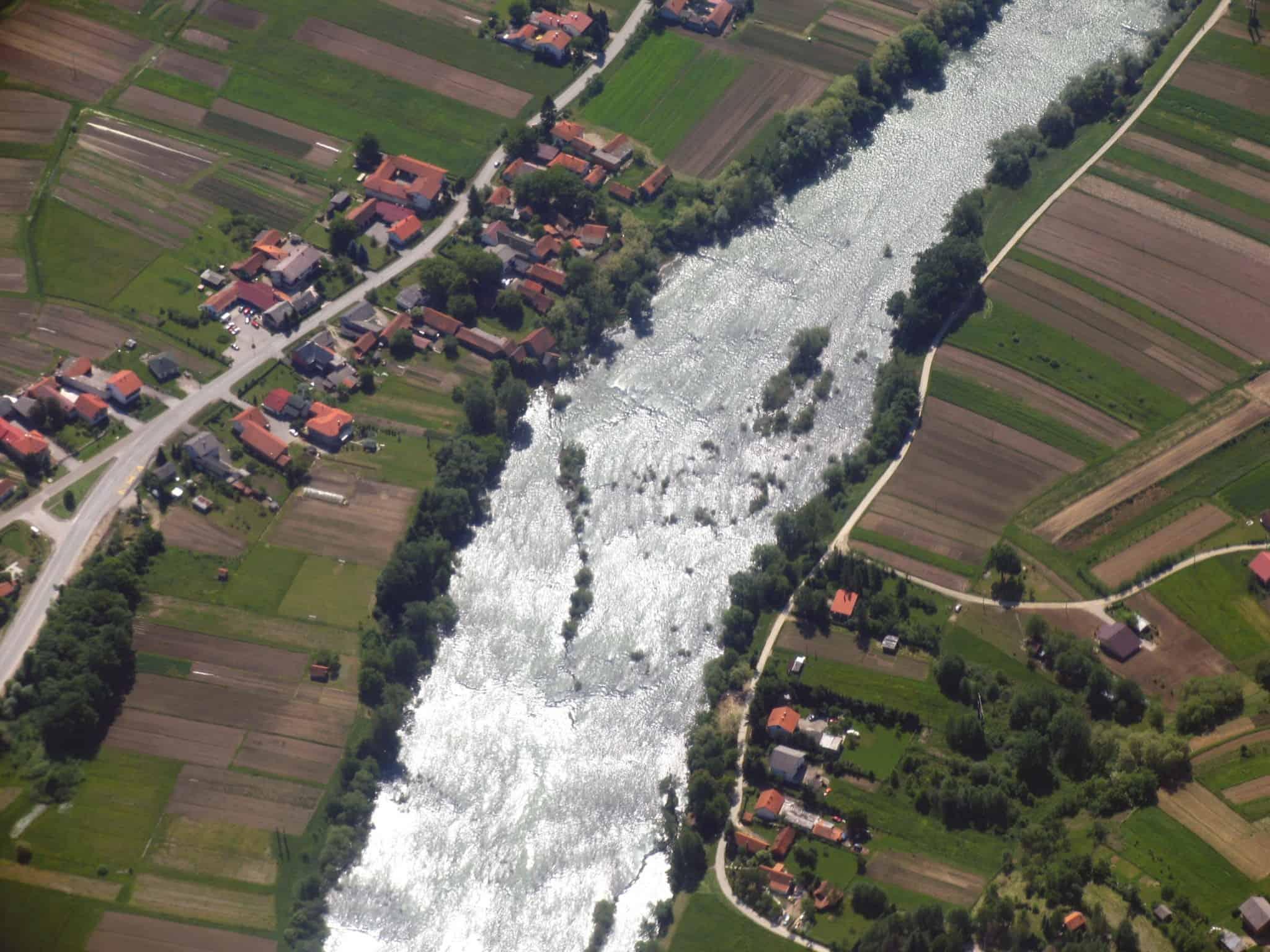 נהר ה-Sava החוצה את זגרב